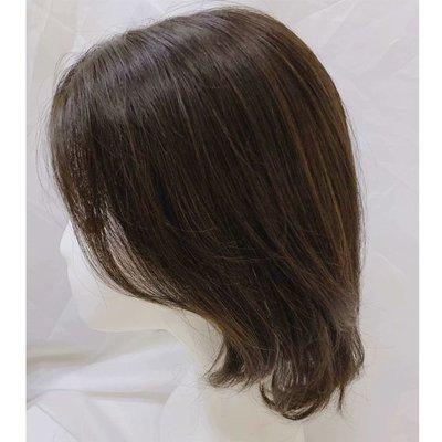 整頂假髮真髮絲中長假髮-手織中分齊肩直髮女假髮2色73vr31[獨家進口][米蘭精品]