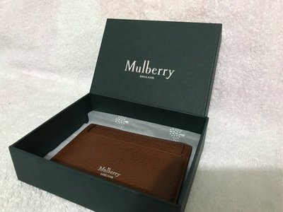 100%real & new Mulberry 真皮 card case 原價$1,500