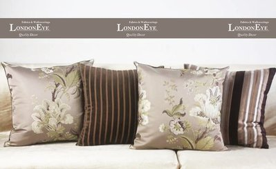 【 LondonEYE 】Fragrant 歐式緹花X立體花鳥自然元素刺繡X質感短毛絨 抱枕腰枕 豪宅/樣品屋