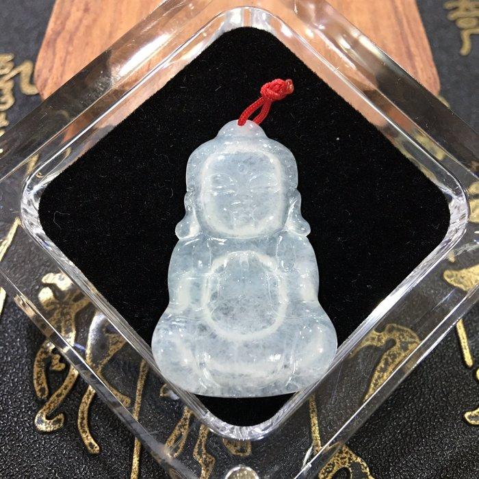 珍奇翡翠珠寶首飾玉墬系列-天然緬甸玉A貨-老坑玻璃種強起光。娃娃佛。如來佛。附證書