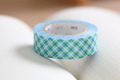 【R的雜貨舖】紙膠帶分裝 日本mt和紙膠帶_朦朧點格(藍綠)