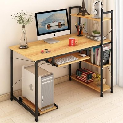 現貨/藝諾琳依電腦桌簡易臺式桌家用簡約現代辦公桌書桌書架組合做桌子101SP5RL/ 最低促銷價