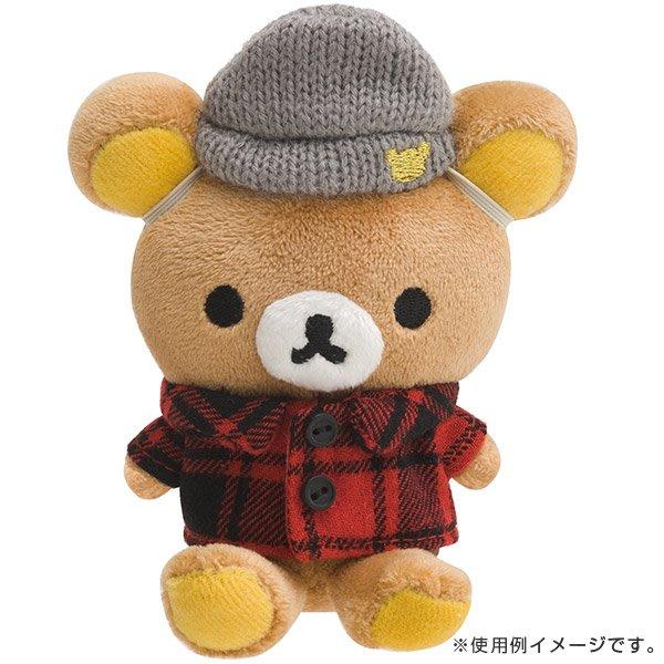 拉拉熊玩偶衣服--日本正版SAN-X拉拉熊懶懶熊玩偶吊飾變裝衣服-英倫風---秘密花園