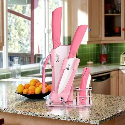 陶瓷刀套裝 廚房用陶瓷菜刀水果刀具 氧化鋯ceramic knife +5件套+刀架  598元
