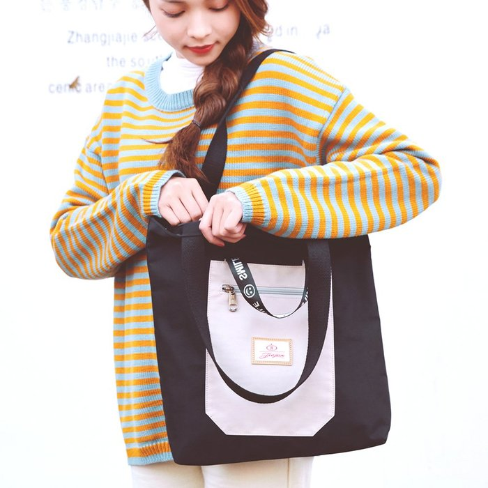 托特包 手提包 手提袋 側背包 韓國原宿風 帆布包 JJ 9330 【  FQ包包】