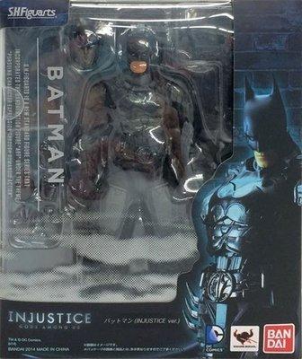 日本正版 萬代 S.H.Figuarts SHF 蝙蝠俠 INJUSTICE 不義聯盟 可動 模型 公仔 日本代購