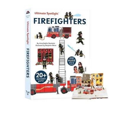 英文原版【Twirl】Ultimate Spotlight: Firefighters 消防隊員 精裝立體翻翻書 兒童益智早教 火災逃生知識 STEM啓蒙繪本