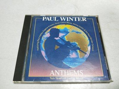 昀嫣音樂(CD110) ANTHEMS - PAUL WINTER 保存如圖 售出不退