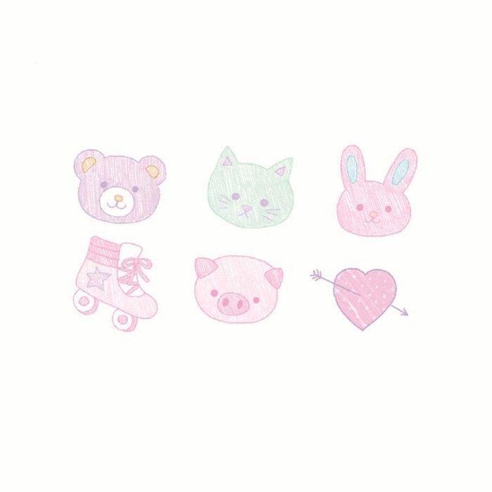 【萌古屋】】可愛小塗鴉 - 防水紋身貼紙刺青貼紙 HC-149