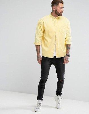 【零碼出清】 OVERSIZE 黃色襯衫 L號  寬鬆版型 尺寸偏大
