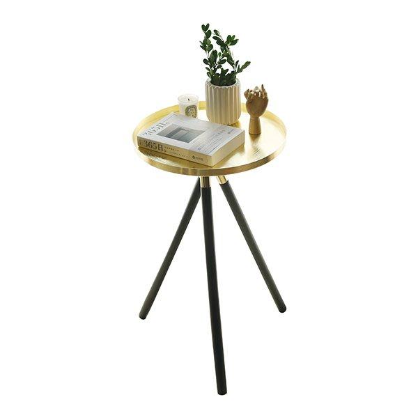 【凱洛詩家飾】北歐金屬質感小圓桌 金色小茶几小邊几床邊桌 客廳裝飾擺件