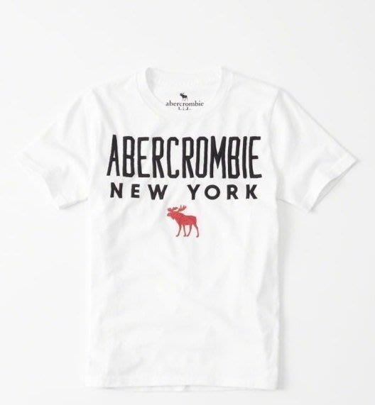 【蟹老闆】Abercrombie & Fitch 童短袖 中間大紅馬白色