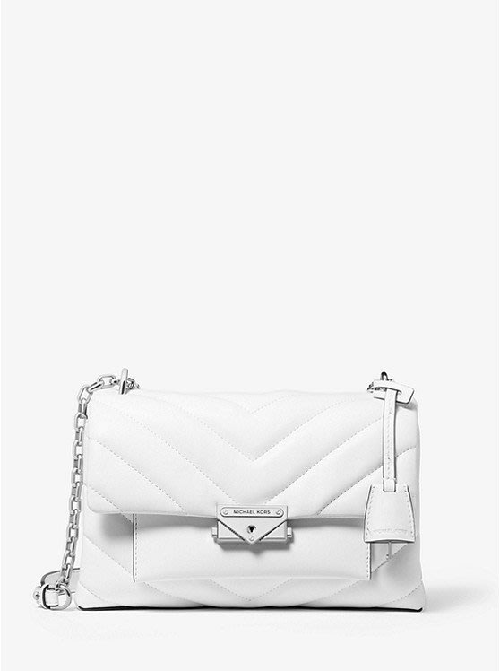 Coco 小舖Michael Kors Cece Medium Quilted Leather Bag 白色肩/斜背包