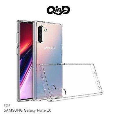 【愛瘋潮】QinD SAMSUNG Galaxy Note 10 雙料保護套 硬殼 背殼 手機殼 透明殼 保護殼