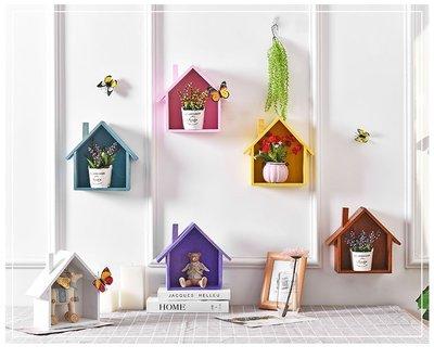 ☜男神閣☞墻上置物架墻面收納房間小房子掛墻壁臥室裝飾品餐廳客廳北歐美式
