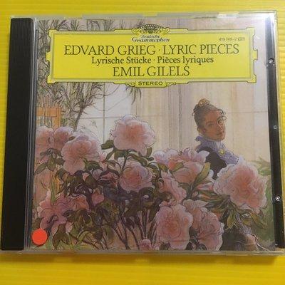 *愛樂熊貓*DG吉利爾斯Gilels企鵝三星帶花名盤GRIEG葛利格LYRIC鋼琴小品95'法PMDC01版(絕版)