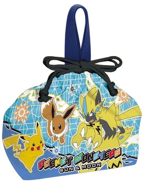 神奇寶貝 皮卡丘  抽繩便當袋 Skater 便當包 學生 野餐 寶可夢 日式便當袋 LUCI日本代購