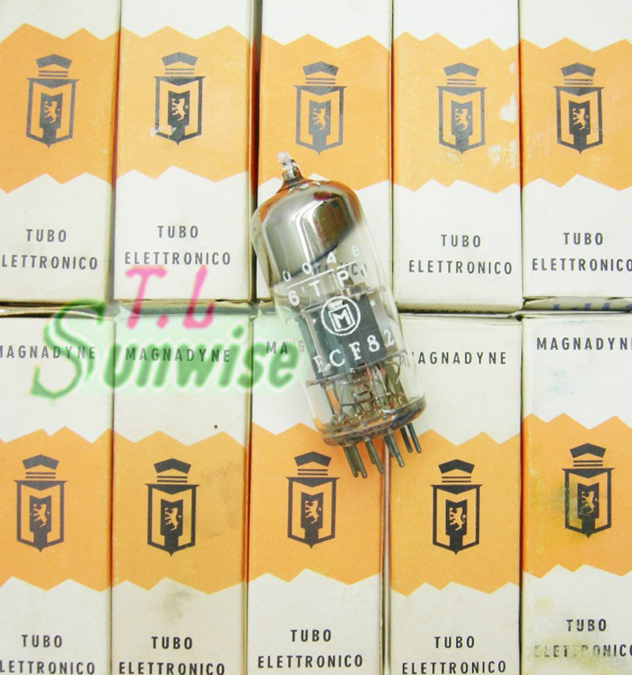 6U8 ︽ NO:9746 義大利 MAGNADYNE 6TP1 / ECF82 (中國 6F2 升級管) NIB真空管