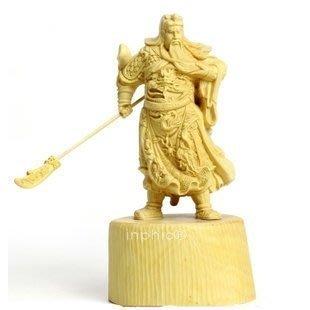 INPHIC-佛像 東陽黃楊木雕關公 工藝品家居風水擺飾汽車飾品財神爺佛像