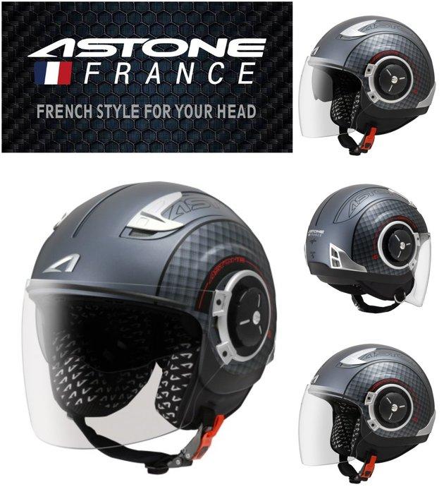 Astone DJ11(消光鐵灰黑)彩繪 可拆洗 內建墨鏡 SS11 半罩 安全帽 通風