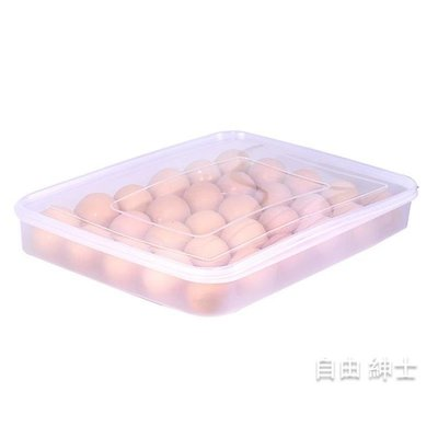 雞蛋盒30格餃子盒冰箱收納盒塑料食物保鮮盒雞蛋架包裝盒托盤髮