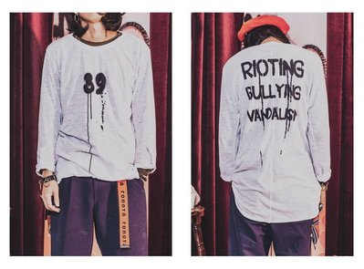 美國東村【SLIGHTLY NUMB】RIOTING LS TEE