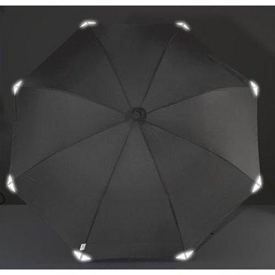 德國[EuroSCHIRM] 全世界最強雨傘 SWING HANDSFREE / 免持健行傘 大(黑-反光)