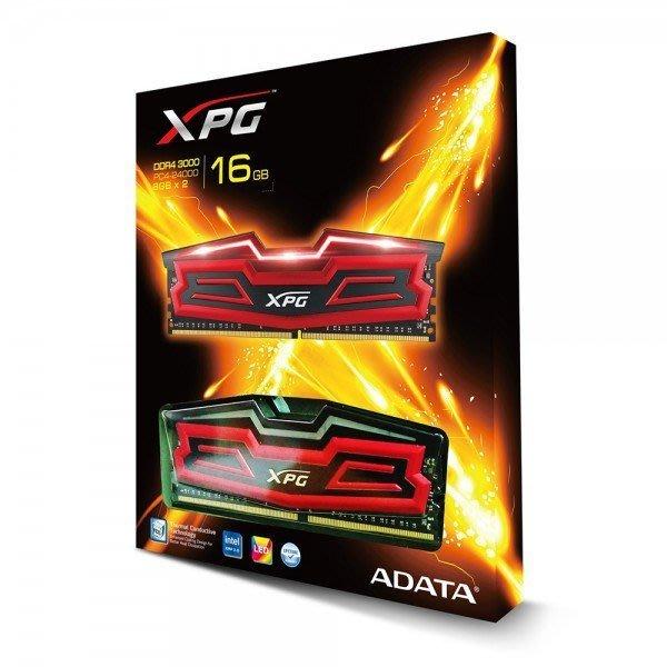ADATA威剛 XPG DDR4 3000 16G 8G*2 AX4U3000W8G16-DRD 呼吸LED燈 現貨