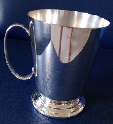 3 高級英國鍍銀茶杯  Silver Plated Pint Tankard(精緻漂亮)