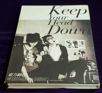 R韓日語(二手CD)東方神起~大寫真版~CD+DVD~keep your Head down~(高)
