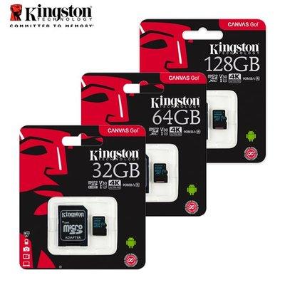 金士頓 Canvas Go C10 U3 U1 MicroSD 128GB 保固公司貨 (KTCG2-128G)