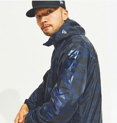 ☆COOKIE@NEW ERA☆2019到貨-暗色藍黑迷彩運動外套/反光印刷-正品!! 這是外套賣場!!