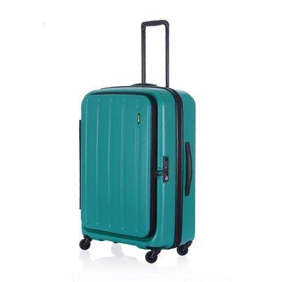 【趣買Cheaper】LOJEL C-F1398 HATCH可擴充拉鍊箱-綠色(22吋行李箱)(免運)
