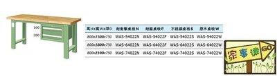 [家事達]台灣 TANKO-WAS-64022N 吊櫃型重量型工作桌-耐衝擊桌板 特價