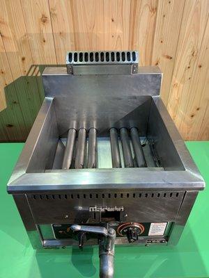 商用營業用不鏽鋼油炸爐 15L marupin 瓦斯油炸機 油炸鍋 餐飲設備 桌上型炸爐 炸物鍋A4932【晶選二手傢俱