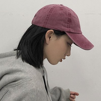 鴨舌帽帽子女鴨舌帽軟頂韓版百搭水洗做舊素色棒球帽休閒男士日系潮夏季 可開發票