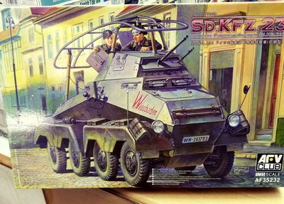 AFV Club-戰鷹-AF35232-1/35-SD.KFZ.232-Sch.Pzspahaehwagen-8-Rad-early -加費3元-M-250