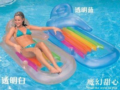 *魔幻甜心*【J056】夏天戲水.游泳必備品 雙把手坐躺式游泳圈 滑水板 浮排 浮板 躺椅 水上休閒