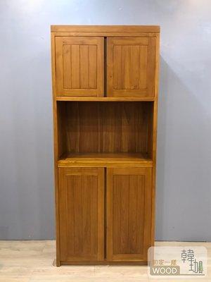[韓珈柚木wood] 伯尼玄關柚木鞋櫃 60公分高櫃 柚木置物櫃 柚木餐邊櫃 印尼柚木實木家具