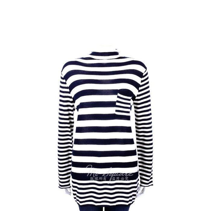 米蘭廣場 ALLUDE 40%CASHMERE 橫條紋拼接長袖上衣(藍白色) 1440550-34
