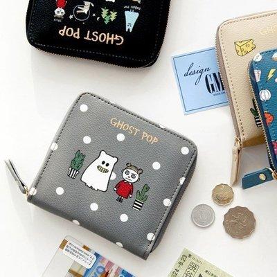 ♀高麗妹♀韓國 GMZ ZIPPER WALLET-S 萬聖之舞 拉鍊式短皮夾/零錢包/卡片萬用收納包(4色選)預購