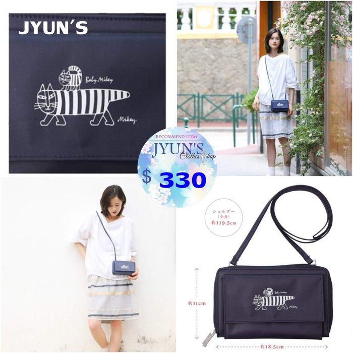 JYUN'S 新品日本雜誌附錄北歐貓咪防水尼龍單肩包肩背包小物包側背包斜背包 1色 預購