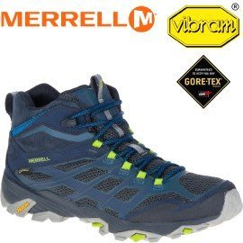 丹大戶外【MERRELL】MOAB FST MID GORE-TEX 防水健行鞋/休閒鞋/登山鞋 ML36889 藍色