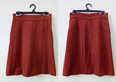 【二手,正品】【GUCCI】胭脂紅/橘紅 裙子