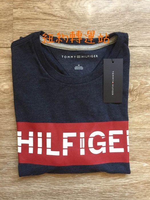 紐約轉運站 : TOMMY HILFIGER  男生舒適棉 圖案LOGO圓領短T 全新現貨在台美國購入