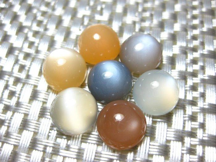 【Texture & Nobleness 低調與奢華】天然無處理 白暈現象 彩色月光石組 7顆共57克拉