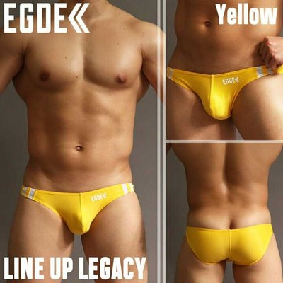 現貨日本制造EGDE男士低腰三角內褲滌綸氨綸彈力材質LINEUP系列男士內褲平角褲