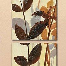 【厚2.5cm】經典抽象花卉-客廳現代簡約裝飾畫無框畫【190114_402】【50*50cm】1套價