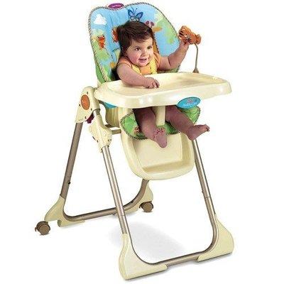 美國 Fisher-Price費雪 熱帶雨林餐椅 Rainforest Healthy Care High Chair
