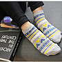 SOX12 日系青黃愛心女款短筒襪 學生襪 襪子...